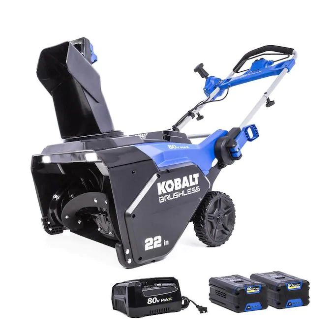 Kobalt 80-Volt Max 22-in Single-stage Cordless Electric Snow Blower (2-Batteries Included) - Find the Best Kobalt Snow Blower for Your Needs