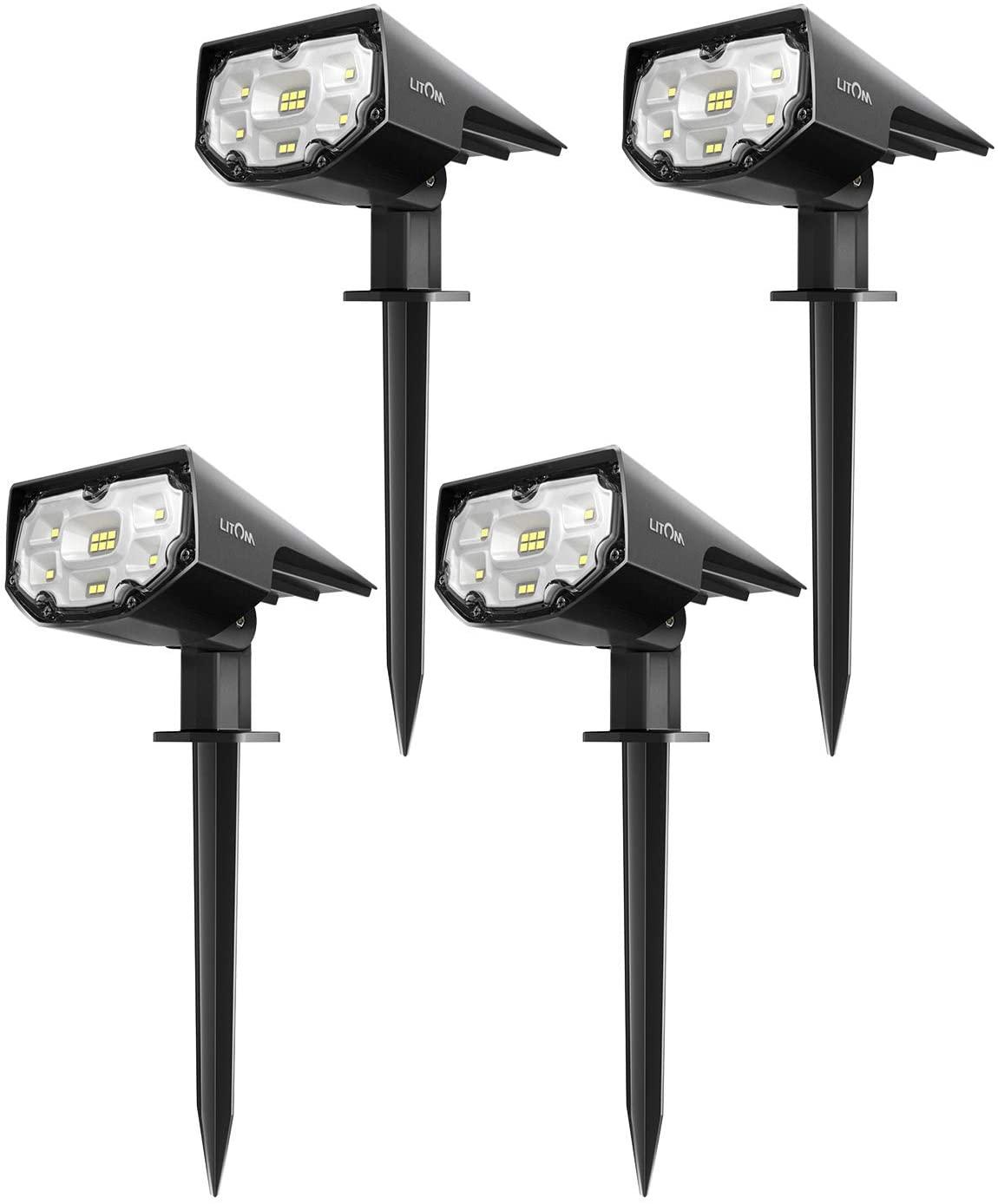 LITOM Solar LED Landscape Spotlights