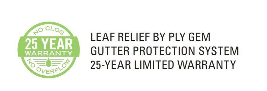leaf relief by ply gem warranty