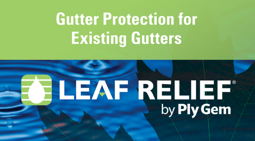 leaf relief by plygem gutter guards featured wide