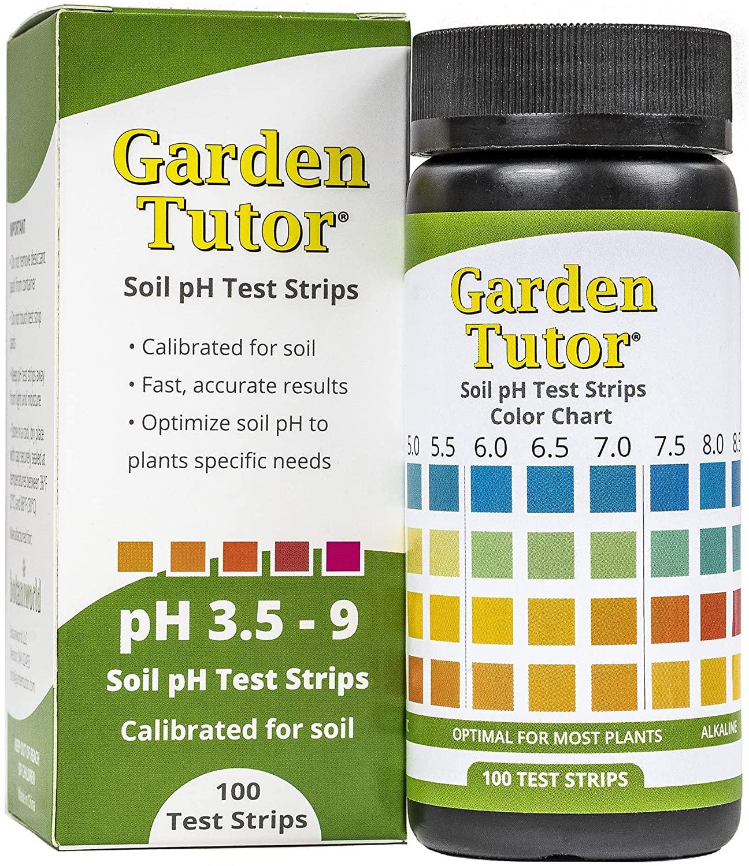 soil ph test strips kit