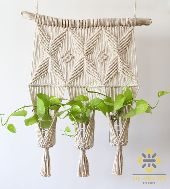 Natural Cotton Macramé Plant Hanger