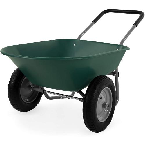 Best Choice Products Dual-Wheel Utility Wheelbarrow Cart