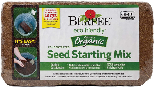 Burpee Organic Coconut Coir Concentrated Seed Starting Mix