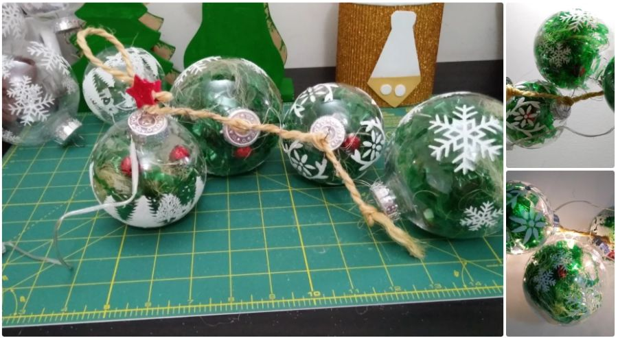 Christmas Globes With Fairy Lights