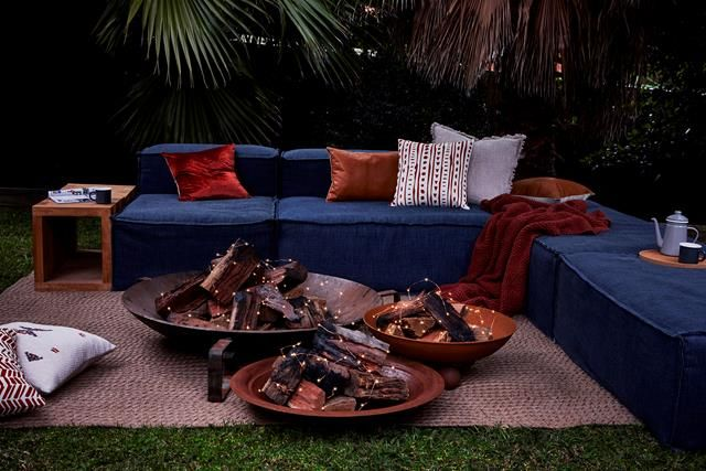 Fairy Lights Outdoor Fire Pit