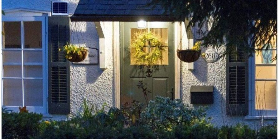 Front Door With Solar Light