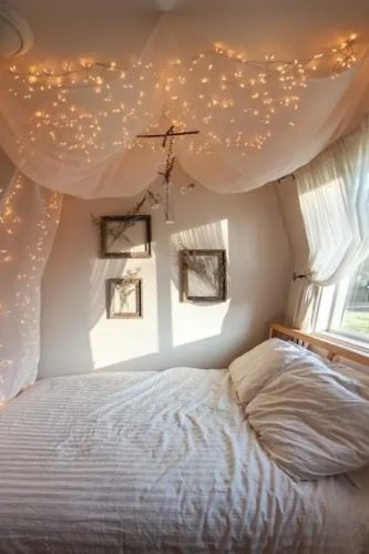 Hanging Fairy Lights for Beds