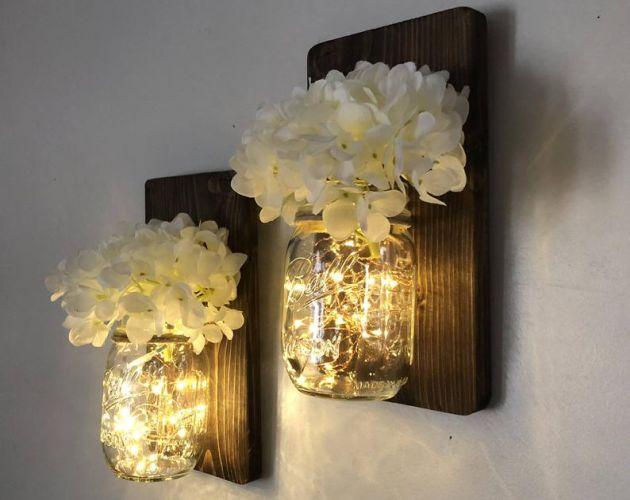 Mason Jar Wall Lights