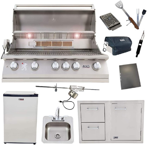 Lion 40-Inch Natural Gas Grill Kit - The Best Outdoor Kitchen Kits for Your Backyard