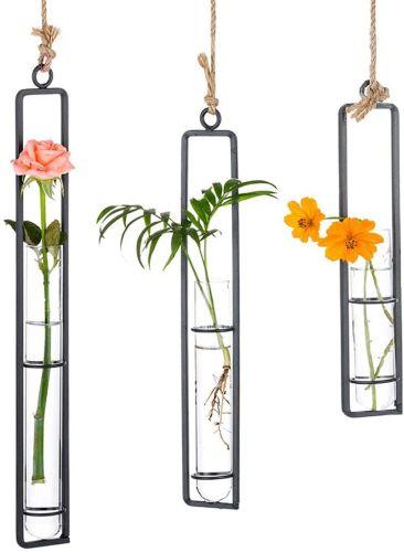 Sziqiqi Glass Propagation Station Test Tube Vases