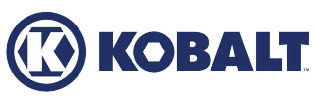 The official Kobalt lawn mower icon in blue letters with a white background.