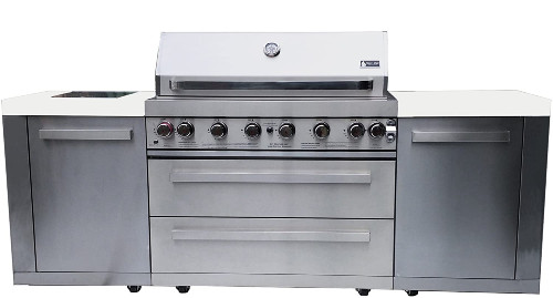 Mont Alpi MAI805 Outdoor BBQ Island - The Best Outdoor Kitchen Kits for Your Backyard