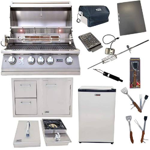 Lion Premium 32-Inch Liquid Propane Grill Kit - The Best Outdoor Kitchen Kits for Your Backyard