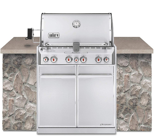 Weber Summit S460 Built-In Natural Gas Grill Station - The Best Outdoor Kitchen Kits for Your Backyard