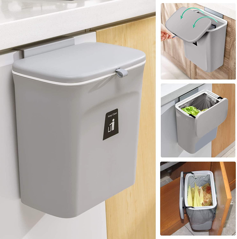 Tiyafuro Mountable Kitchen Compost Bin