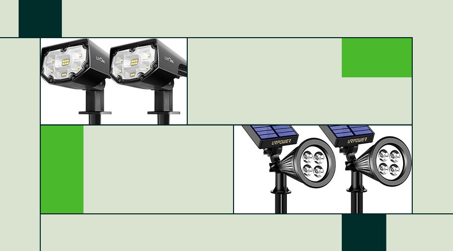 Two of the best solar spotlights featured.