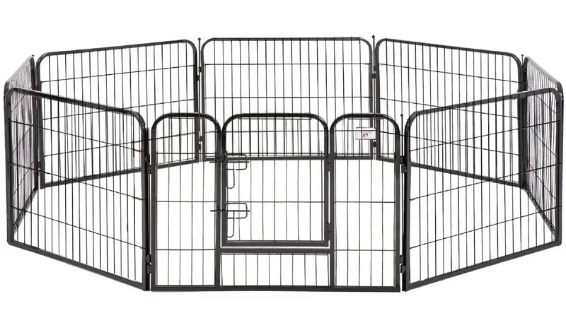 Black Exercise Dog Pen
