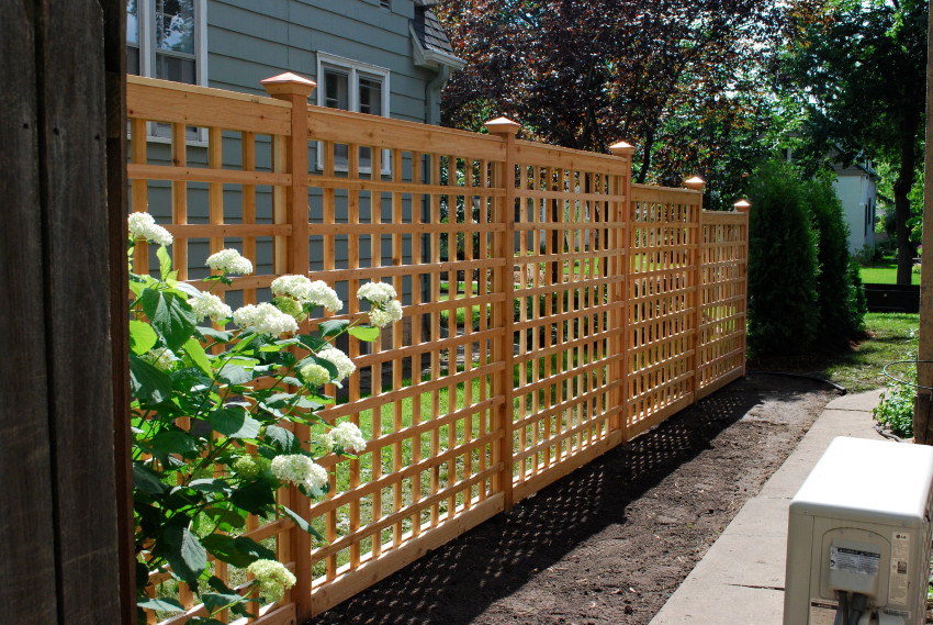 lattice fence with flowers
