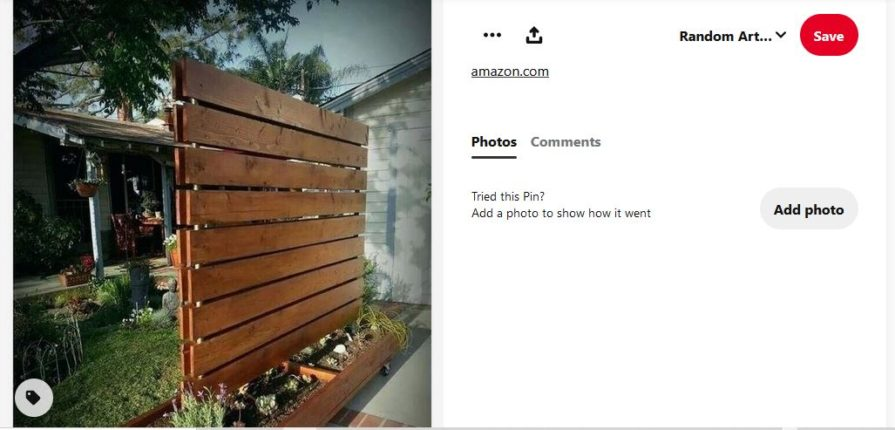 portable privacy screen for patio with planters