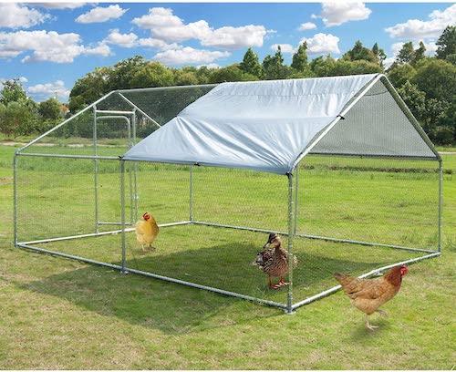 Polar Aurora Large Metal Chicken Coop