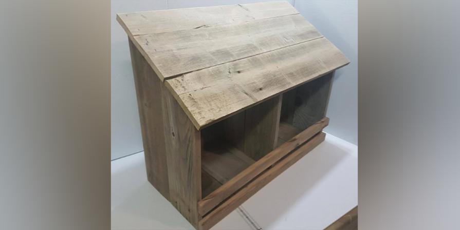 Rustic Double Nesting Box