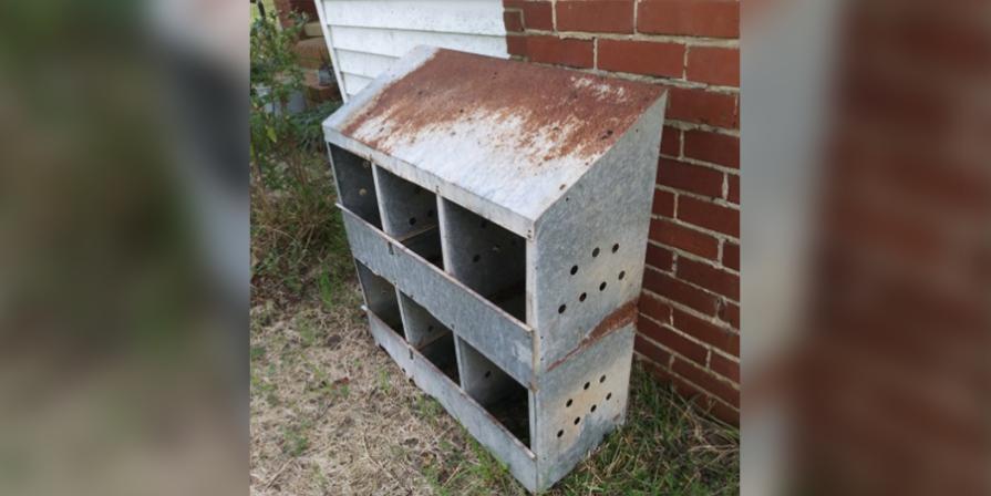 Rustic Vintage Chicken Hen Nesting Boxes