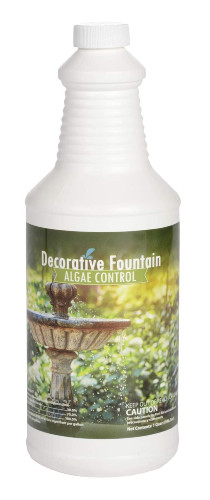 Bottle of algaecide for small ponds and fountains