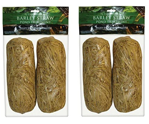 2 packages of 2 barley straw bales in wrapper
