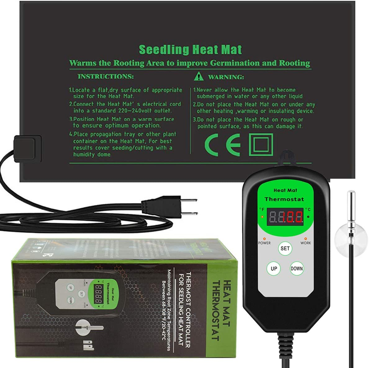 RIOGOO Seedling Heat Mat and Thermostat Controller