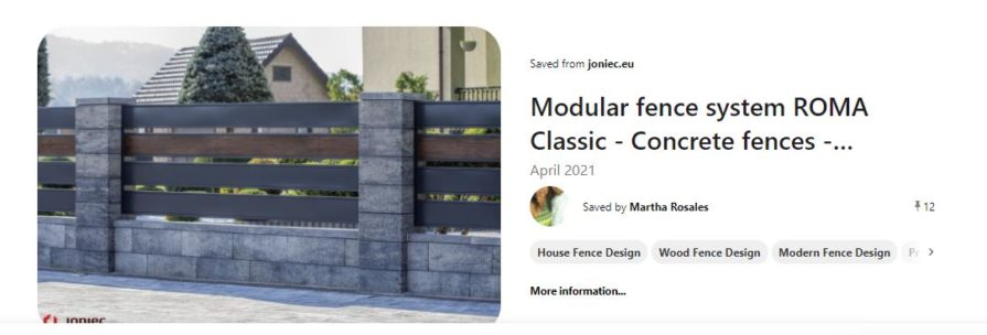 Modular fence in front of home