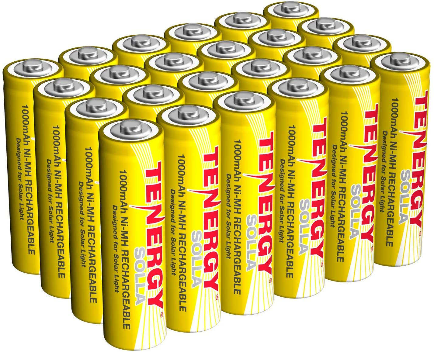 Tenergy Solla NiMH, 1,000 mAh Rechargeable Batteries