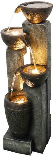 Agoodping Outdoor Garden Water Fountain