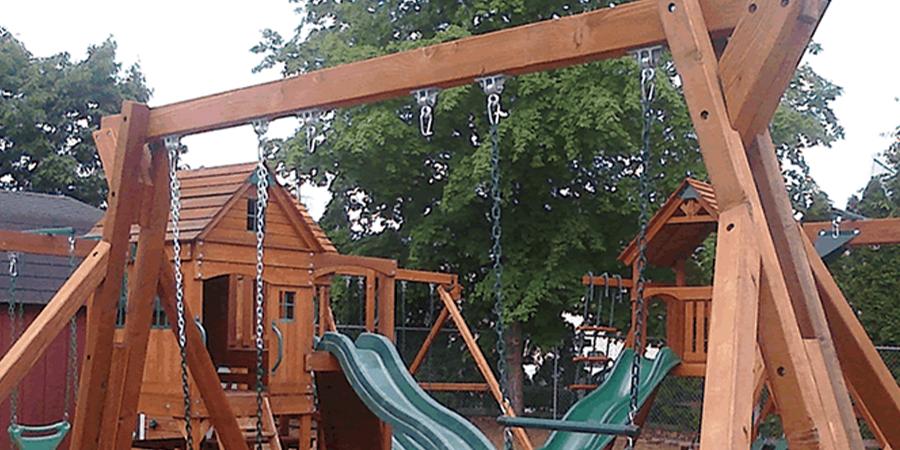 Easiest DIY Swing Set