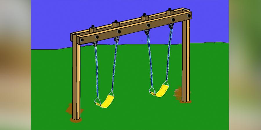 Easy 4x4 Swing Set