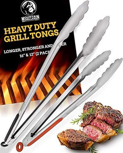 Heavy Duty Grill Tongs by Mountain Grillers