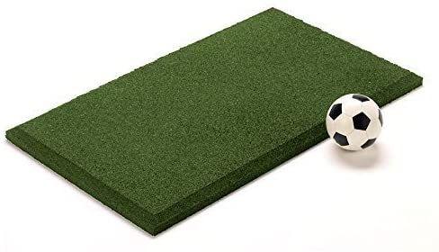 A green IncStores playground swing mat.