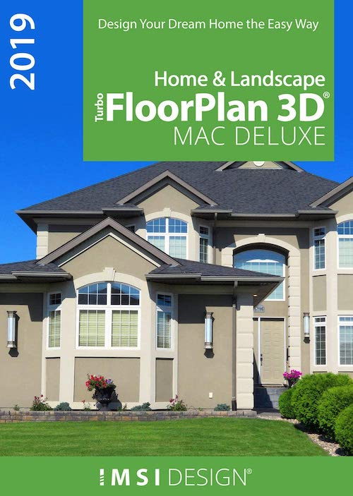 TurboFloorPlan Home and Landscape Deluxe 2019 - The Best Landscape Design Software for Mac Users