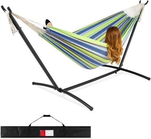 Best Choice Cotton Hammock and Steel Stand