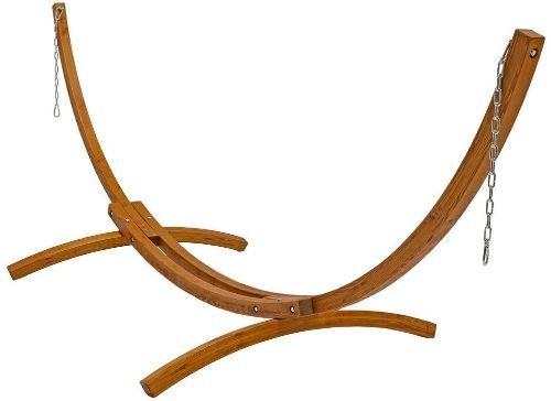 Sunnydaze Curved Wood Hammock Stand