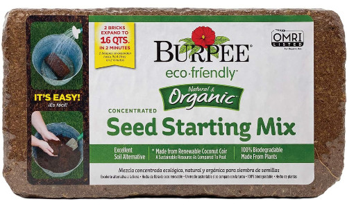 Burpee seed starting mix brick