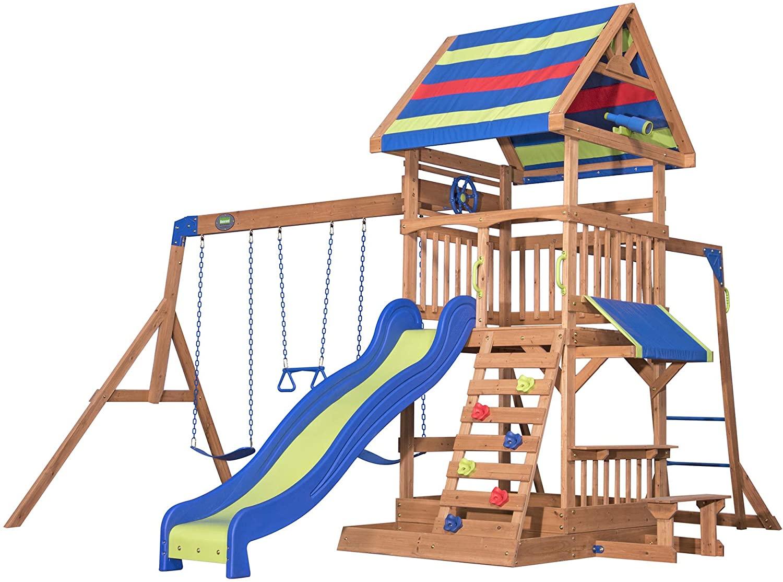 Backyard Discovery All Cedar Wooden Swing Set