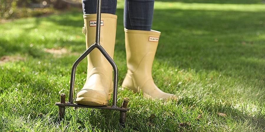 Yard Butler Lawn Coring Aerator Manual Lawn Aerator