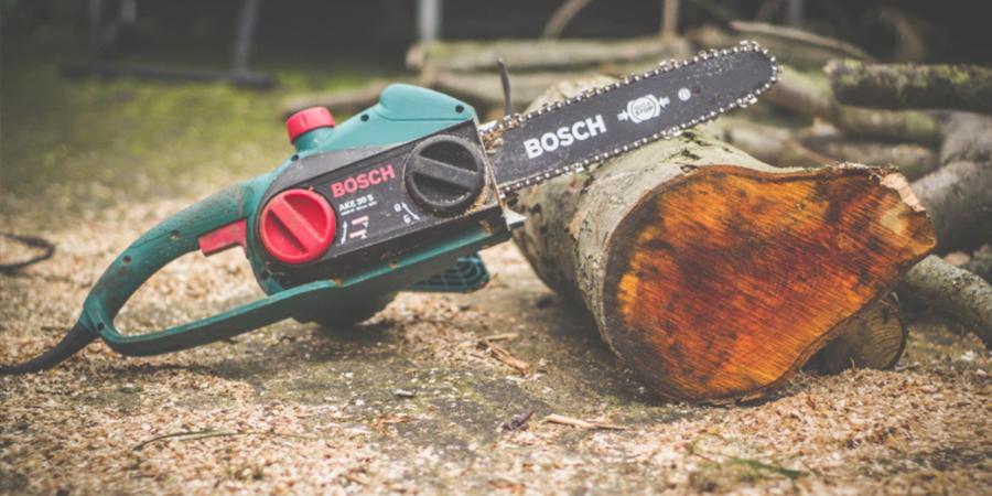 Bosch Chainsaw Resting