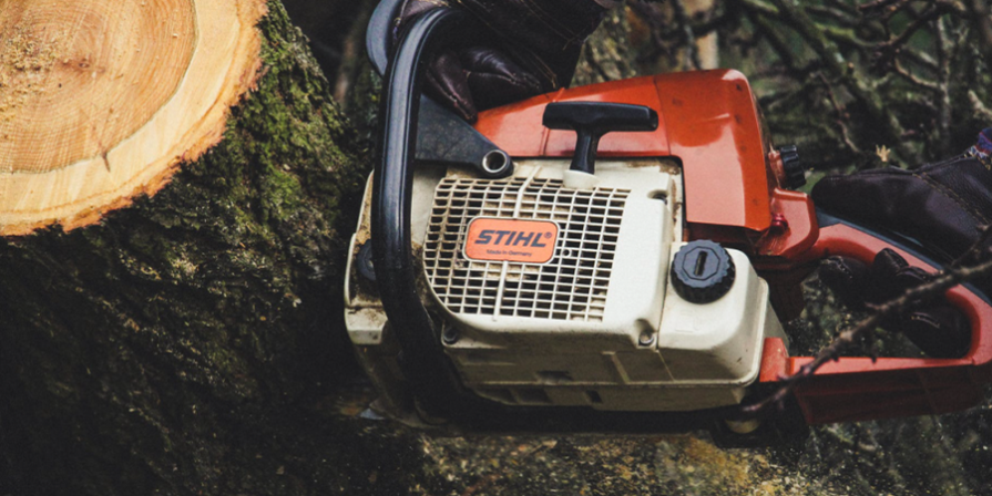 Stihl Chainsaw in Use