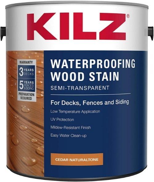 KILZ Waterproofing Wood Stain