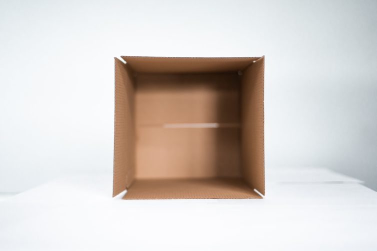Standing Cardboard Box