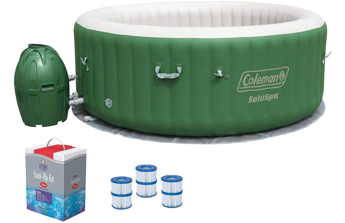 hot tub and kit on white background