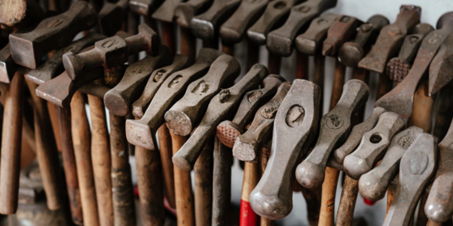 Antique Hammers Hanging