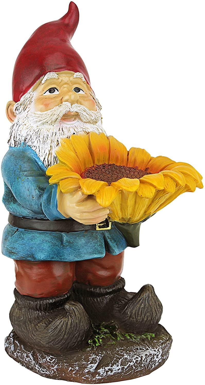 Design Toscano Sunflower Sammy Garden Gnome